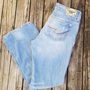 Express Stella boot low rise jeans
